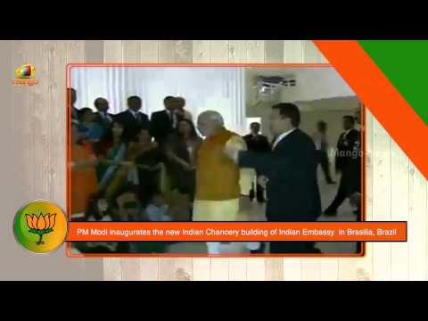 PM Modi inaugurates the new Indian Chancery building of Indian Embassy in Brasilia, Brazil