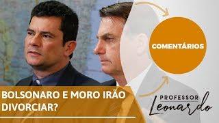 Moro e Bolsonaro perto do divórcio