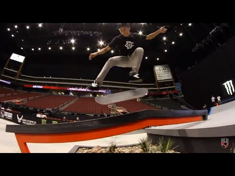 Street League 2012: AZ Practice Quick Clip with Nyjah Huston