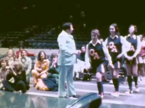Queen Anne School cheering at Cap Ctr 1975