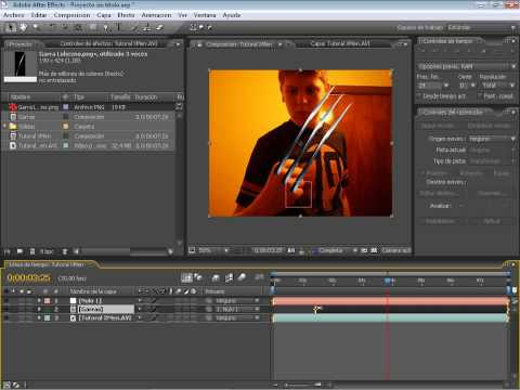 Tutorial After Effects Garras Lobezno
