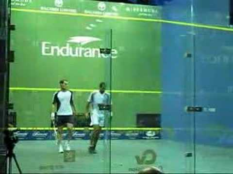 1st game Bermuda Squash World Open Final: Amr Shabana (WR 1) vs Gregory Gaultier (WR 3)