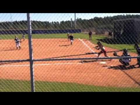 Liberty County High School, FL Varsity Softball 2013 #18 Nikki Anico 2015 (L) Push Bunt