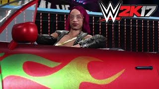 WWE 2K17 Sasha Banks does Eddie Guerrero's Entrance!