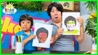 RYAN'S NEW BOOK + 3 Marker Challenge with Daddy!