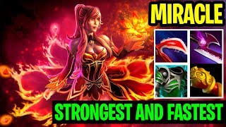 Strongest And Fastest Hit - Miracle- Lina Damage Build - Dota 2
