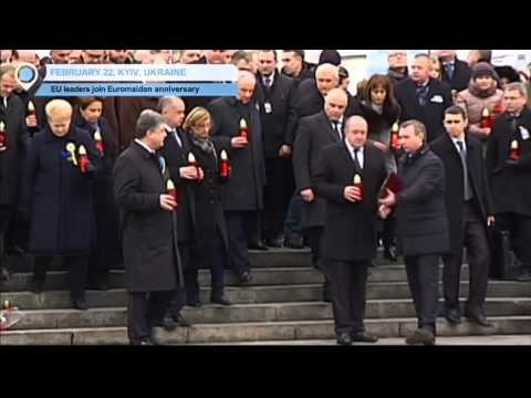 Ukraine Euromaidan Anniversary: EU leaders participate in Kyiv peace march  to honour victims
