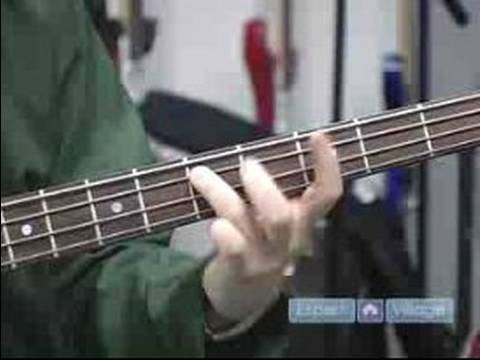 How to Play the Bass Guitar : How to Play Bar Chords on Bass Guitar Video