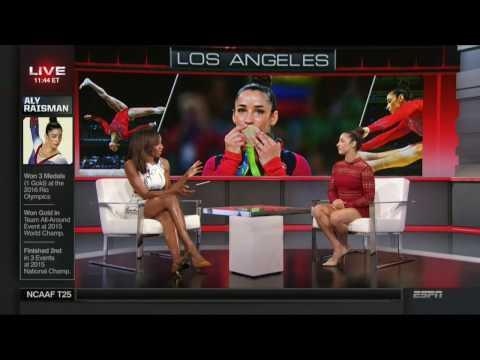 Elle Duncan and Cari Champion Thigh War (special guest Aly Raisman) | ESPN thumbnail