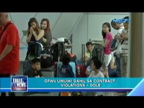 OFWs from Middle East return due to contract violations