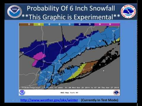 Weather Briefing for the Winter Storm on November 26-27, 2014