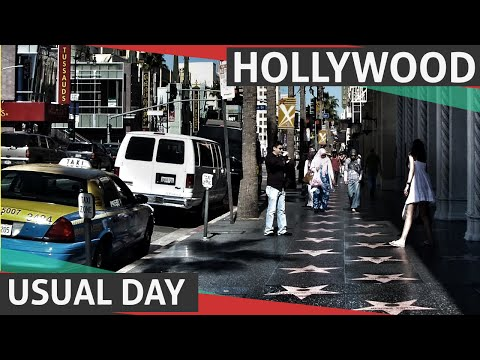 Hollywood, Los Angeles, Streets Usual Day video