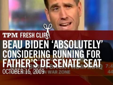 Beau Biden 'Absolutely' Considering Running for Father's DE Senate Seat