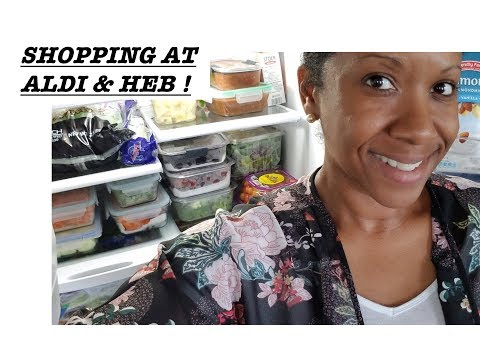 SHOPPING AT ALDI & HEB! PREPPING VEGGIES & COOKING DINNER