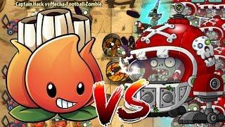 Plants vs Zombies 2 Epic Hack : Mega Akee vs Mecha-Football Zombies
