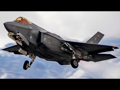 Лучшие в мире F-35 и F-22 ВВС США на учениях Красный Флаг 2017