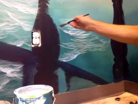 How to paint ocean water pt 1 of 2 youtube for Mural joe painting