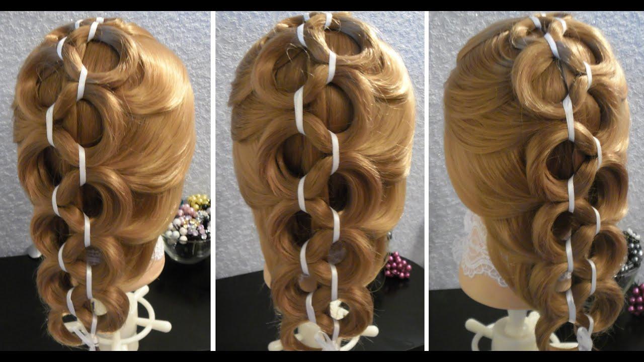 Причёски с помощью резинок на средние волосы фото