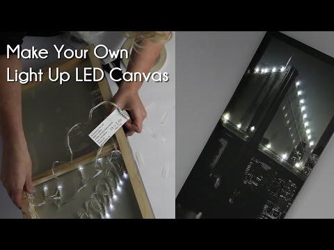 make your own light up led canvas youtube. Black Bedroom Furniture Sets. Home Design Ideas