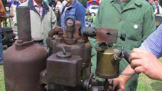 RS Rohölmotor mit Seilmaschine - Hot Bulb Stationary Engine