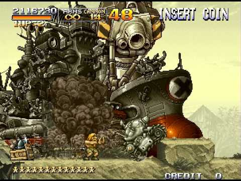 Metal Slug X: Super Vehicle-001 Walkthrough Neo Geo