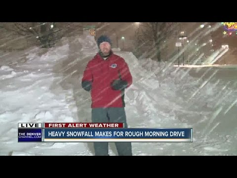Heavy snowfall makes for rough morning drive