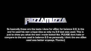 The intro text i made for Balance 2.0 | Cauls