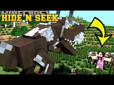 Minecraft: DINOSAURS HIDE AND SEEK - Morph Hide And Seek - Modded Mini-Game