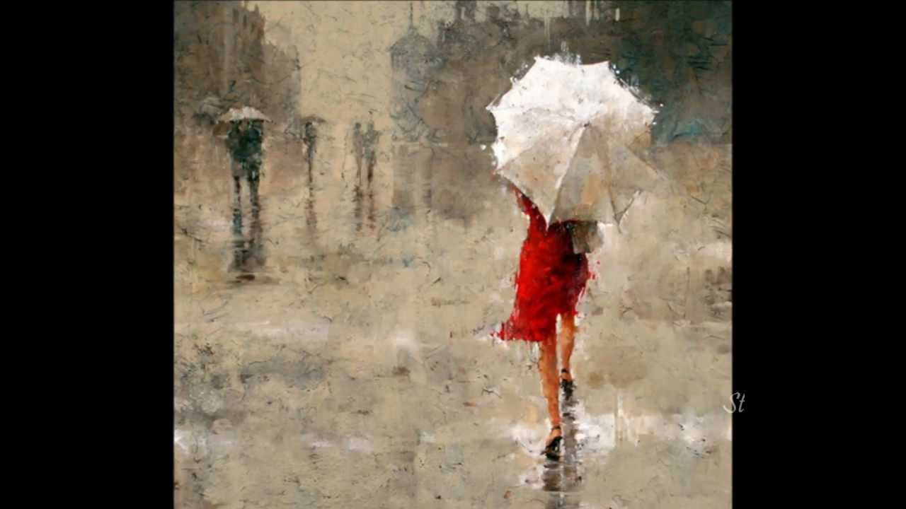 Black White And Red Oil Paintings