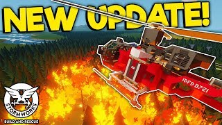 Massive New Update, Huge Island, Tsunami VS Forest Fire! - Stormworks Survival Gameplay