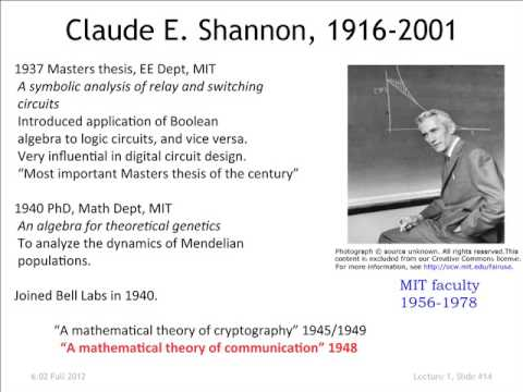 Shannon biography - MacTutor History of Mathematics