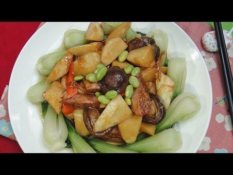 現代心素派-20140815 香積料理 竹筍百匯、南瓜梗炒美白菇 在地好美味 兔子遇到熊異國蔬食