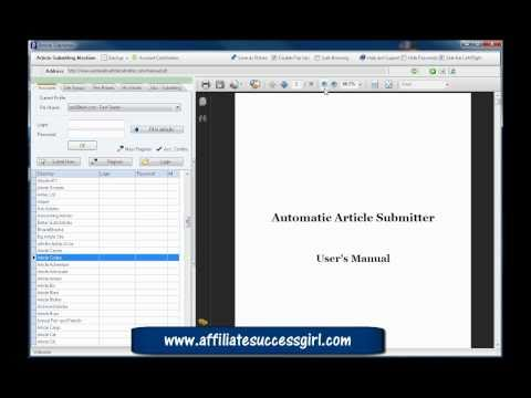 0 Article submitting software Automatic Article Submitter Pt1