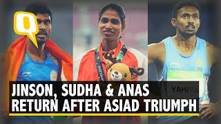 Asian Games: Jinson Johnson, Muhammad Anas, Sudha Singh Return Home After Winning Medals | The Quint
