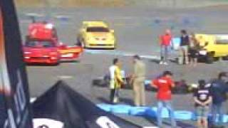 Ferrari  drift to tire explosion