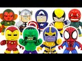 Marvel Avengers Mighty Muggs! Thanos VS Hulk, Spider-Man, Thor, Vision battle!   DuDuPopTOY