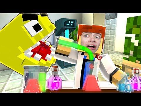 УЧЕНЫЙ СОЗДАЛ ПАКМАНА В МАЙНКРАФТ КУБИЧЕСКАЯ ЛАБОРАТОРИЯ PACMAN IN Minecraft