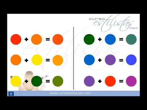 Curso Colorimetria en el cabello: Teoría del color colores primarios,secundarios y terciarios