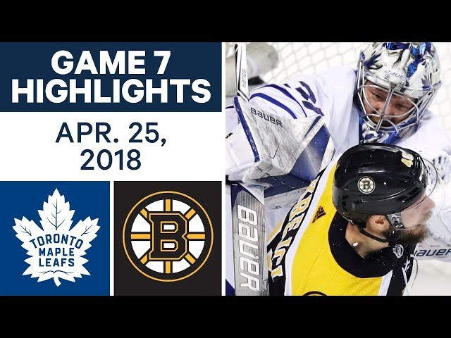 NHL Highlights  Maple Leafs vs. Bruins, Game 7 - Apr. 25, 2018