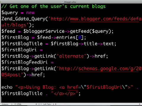 Getting Started with the Google Data PHP Client Library