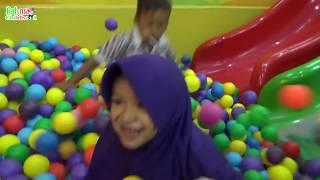 Sliding In A Big Ball Pit, Lot Of Ball For Toddler & Kids #RahmaChildhood