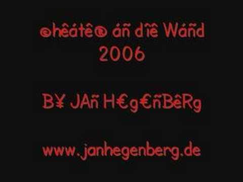 Jan Hegenberg - Cheater An Die Wand