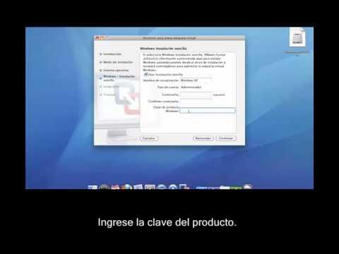 Cómo instalar una máquina virtual XP con VMware. en MAC OS X para correr Minitab 16