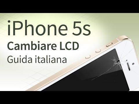 iPhone 5s Sostituire e Cambiare vetro. LCD. Touchscreen [guida italiana]