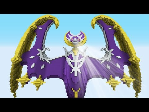 Minecraft vs Pokemon Sun/Moon  | GIGA Lunala vs Solgaleo | (PvZ/Pokego Land)