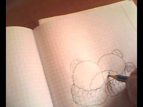 Видео как научиться рисовать мишку