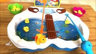 Đồ chơi trẻ em, đồ chơi câu cá, câu vịt chạy pin cho bé - Cuộc thi ai câu vịt nhiều hơn (Chim Xinh)