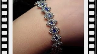 Bollywood Bracelet with Tila beads Beading Tutorial by HoneyBeads1 (with tila beads)