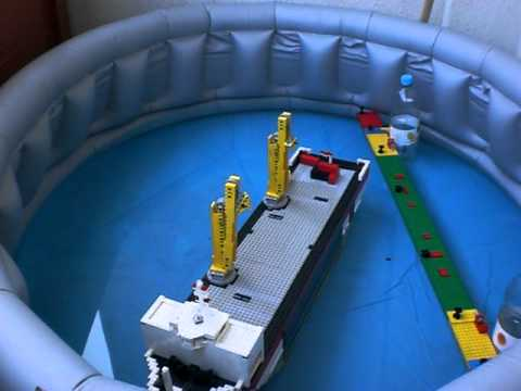 floating rc lego crane ship