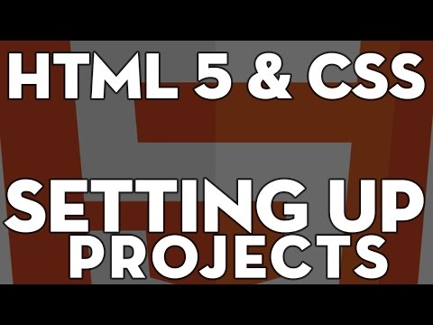 HTML5 & CSS Web Design - 101 - setting up project folders